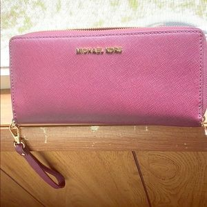 Authentic MK large wristlet wallet